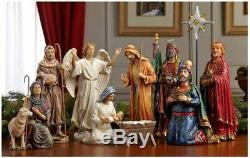 Three Kings Gifts Real Life Christmas Nativity Set, 14 Inch, New Distressed box