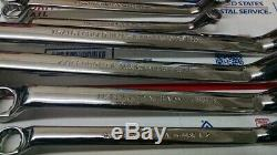USA = CRAFTSMAN PROFESSIONAL 10 METRIC & SAE Inch BOX END WRENCH SET Deep Offset