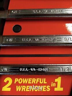 USA CRAFTSMAN VA RATCHETING WRENCH SET Extreme Grip SAE INCH box end 6pc Set