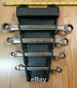 USA Made = CRAFTSMAN = 4pc SAE Inch Double Box End Ratcheting Wrench Set ratchet