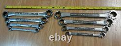 USA Made = CRAFTSMAN = Ratcheting Double Box End Wrench Set METRIC & SAE INCH 8p