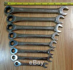 USA Made CRAFTSMAN Reversible Ratcheting Wrench Set SAE INCH Box 8 pc polished