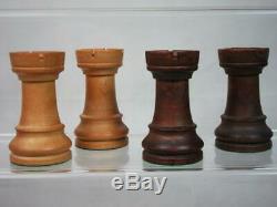 VINTAGE CHESS SET LOADED CHAVET CLUB STAUNTON PATTERN K 4.75 inch + BOX