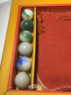 Vintage Akro Agate Box Set No 230. 6 X 8 Inches Absolutely Mint Condition