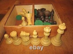 Vintage DRUEKE 38B Imperial Chess Set 5 inch King with Box