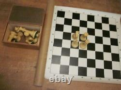 Vintage DRUEKE Imperial Chess Set 5 inch King with Box & XL Chess Board
