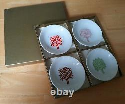 Vintage Set/4 Four Seasons Hotel, NYC 4-inch Butter Dish/Ashtray in Original Box