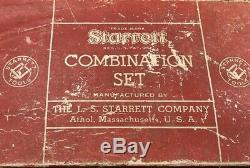 Vintage Starrett Combination Set #434 Mechanics Tool Square In Original Box