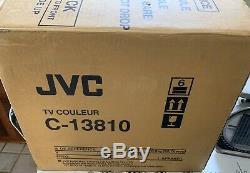 Vtg JVC C-13810 Retro Gaming TV Television Set with BOX Sealed Remote 13 Inch CRT