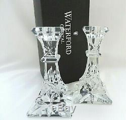 Waterford Crystal Lismore Candlesticks 15cm (6 inches) Set of Two Boxed