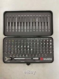 Wurth Zebra Bit Assortment 1/4 inch Tool Kit Set Bit Box105 Pieces